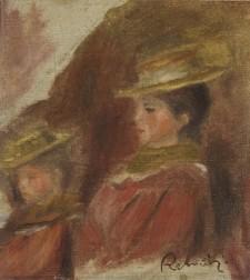 Pierre-Auguste Renoir, Two Girls Wearing Hats (1890)